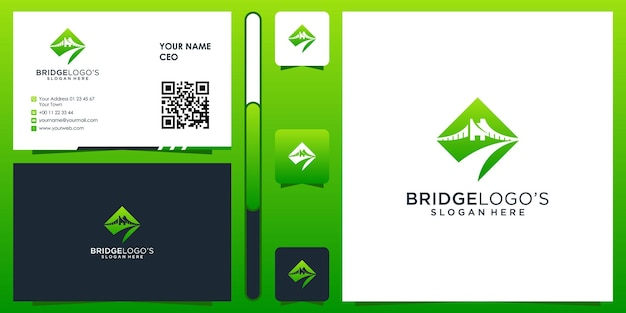 Logotipo da ponte com design de cartão de visita premium