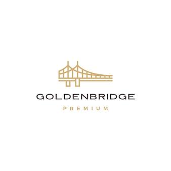 Logotipo da ponte de ouro