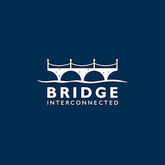 Logotipo da ponte de silhueta