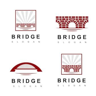 Logotipo da ponte de tijolo