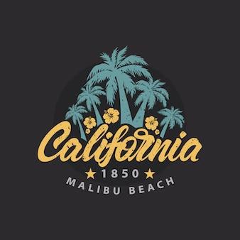 Logotipo da praia de califórnia malibu