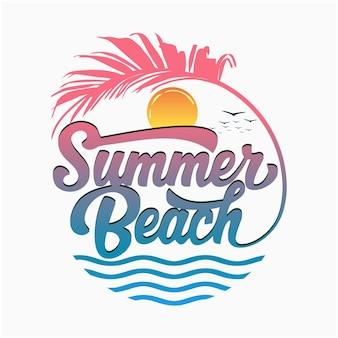 Logotipo da praia de verão