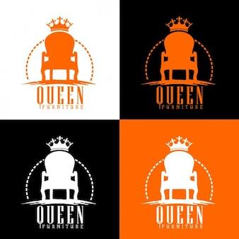 Logotipo da rainha trono