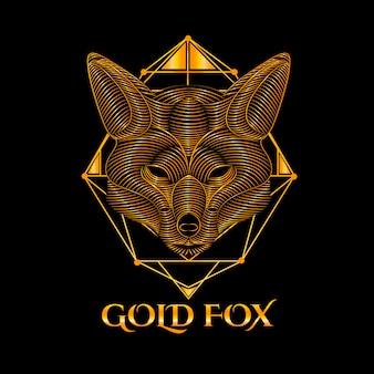 Logotipo da raposa de ouro