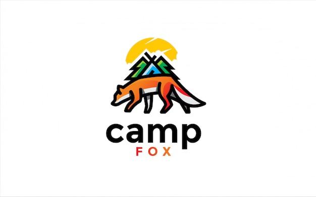 Logotipo da raposa do acampamento