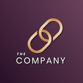 Logotipo da rede de negócios dourado