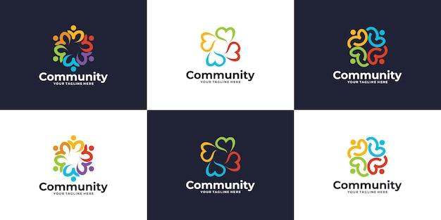 Logotipo da rede social, coleção de logotipo da comunidade