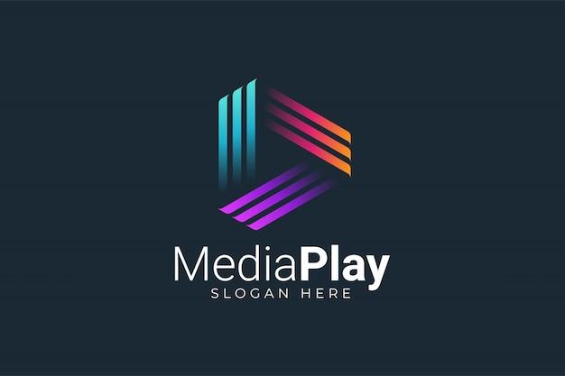 Logotipo da reprodução de mídia