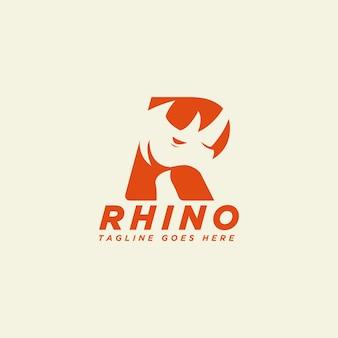 Logotipo da rhino letter r