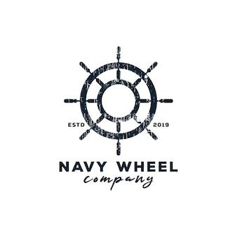 Logotipo da roda da marinha