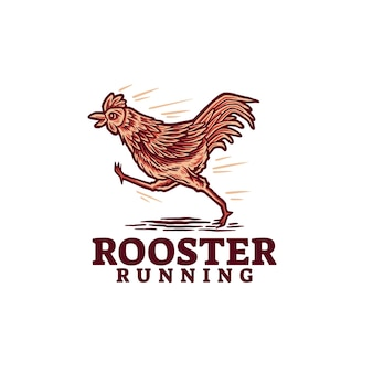 Logotipo da rooster running
