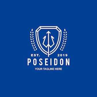 Logotipo da segurança da crista de poseidon