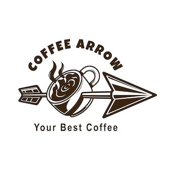 Logotipo da seta do café