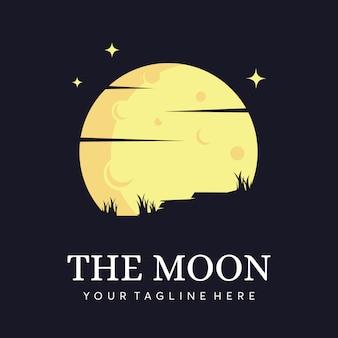 Logotipo da silhueta da lua