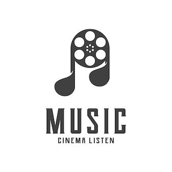 Logotipo da silhueta da música vintage retrô carimbo