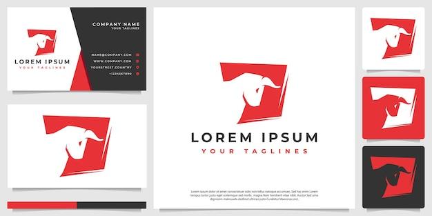 Logotipo da silhueta de bisão minimalista simples