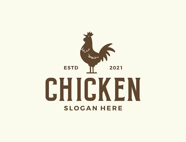 Logotipo da silhueta de frango