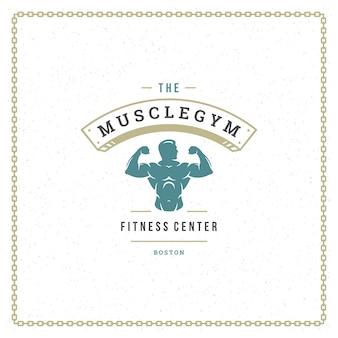 Logotipo da silhueta do fisiculturista
