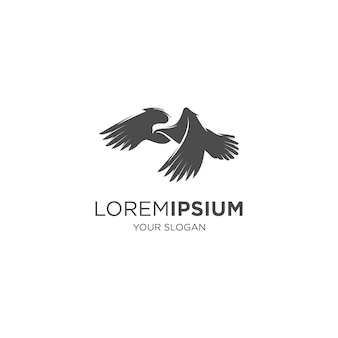 Logotipo da silhueta do pássaro pombo esfola