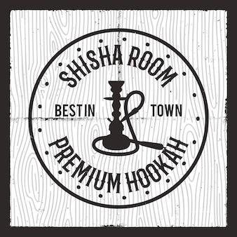 Logotipo da silhueta shisha.