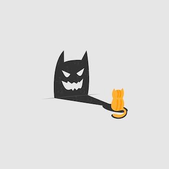 Logotipo da sombra do gato