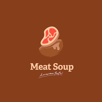 Logotipo da sopa de carne