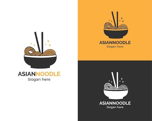 Logotipo da sopa de macarrão asiática