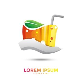 Logotipo da suco colorido