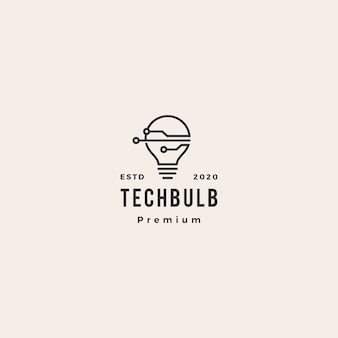 Logotipo da tecnologia de lâmpada inteligente
