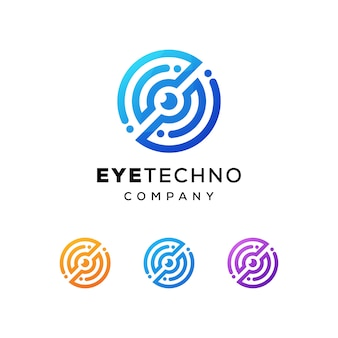 Logotipo da tecnologia do olho