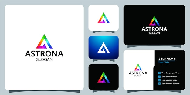 Logotipo da tecnologia estilo m