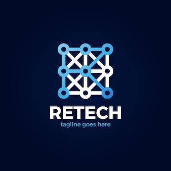 Logotipo da tecnologia letra r