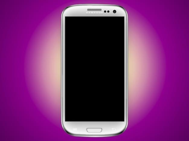 Logotipo da tela do smartphone samsung android
