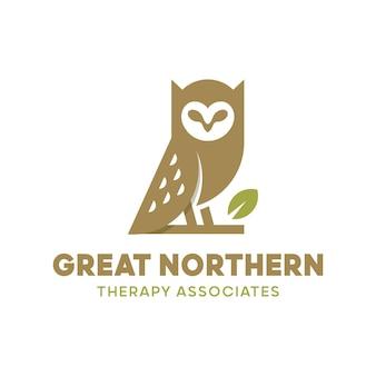 Logotipo da terapia da coruja