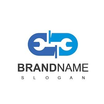 Logotipo da tubulação, símbolo da empresa de encanamento e da indústria de petróleo