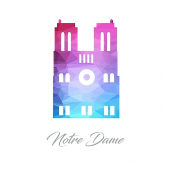 Logotipo da universidade de notre dame polygon