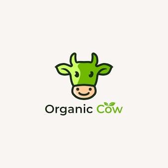 Logotipo da vaca orgânica