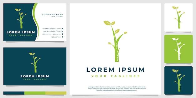 Logotipo da vegetação, minimalista moderno