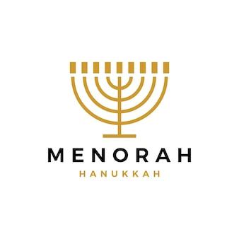 Logotipo da vela judia de menorah hanukkah judaísmo