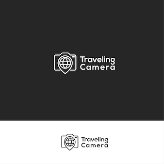 Logotipo da viagem da câmera viajando