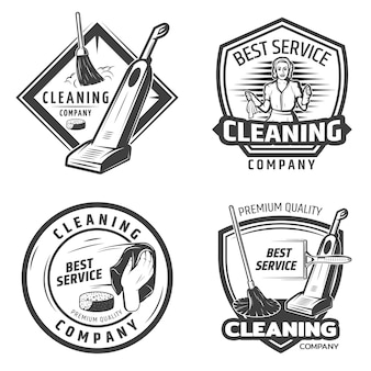 Logotipo da vintage sanitation