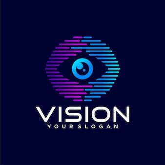 Logotipo da visão abstrata