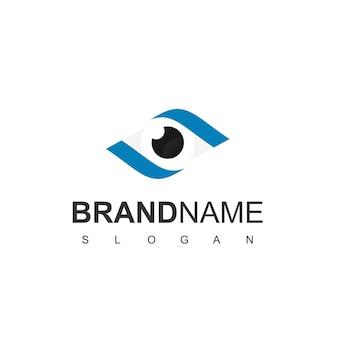 Logotipo da visão com símbolo de olho