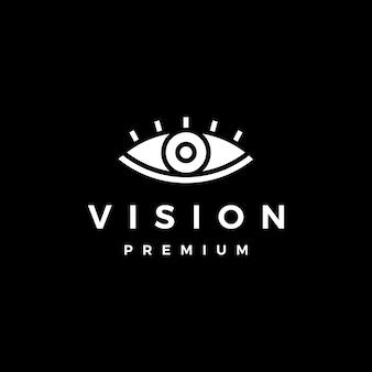 Logotipo da visão do olho