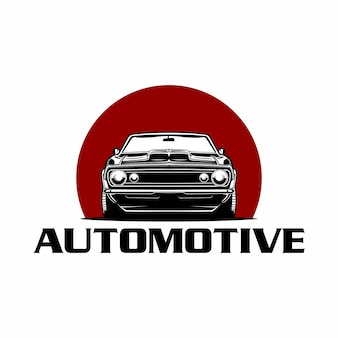 Logotipo da vista frontal clássica do carro