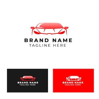 Logotipo da vista frontal do carro de corrida