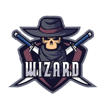 Logotipo da wizards blade e sports