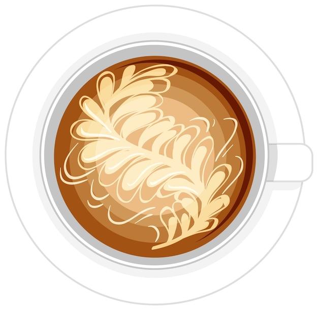 Logotipo da xícara de café isolado no fundo branco