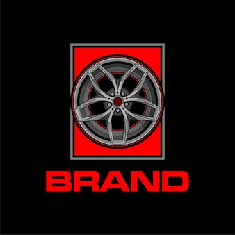 Logotipo das jantes ou rodas de carros esportivos