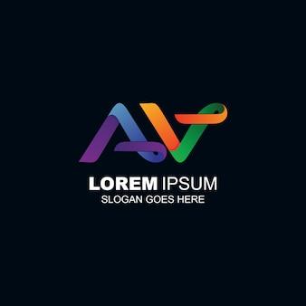 Logotipo das letras aev